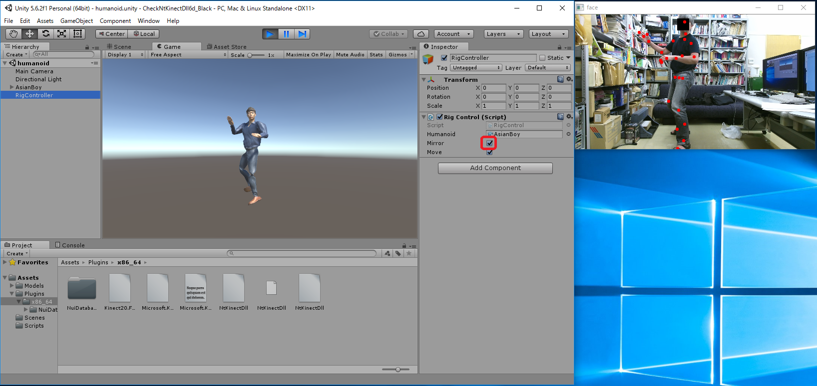Kinect V2 C++ Programming with OpenCV on Windows10